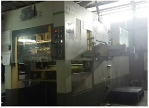Die Cutting and Creasing Platen Machine Type 1050E Brausse